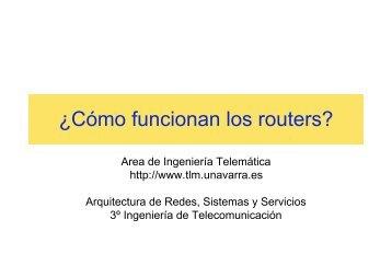 ¿Cómo funcionan los routers? - Telemática