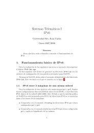 Sistemas Telemáticos I IPv6 - Portal de Docencia de la ETSIT ...