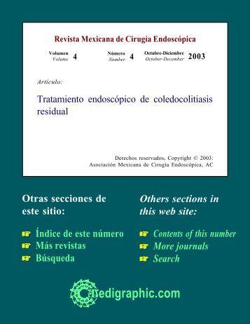 Tratamiento endoscópico de coledocolitiasis residual - edigraphic.com