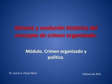 Génesis y evolución histórica del concepto de crimen organizado.