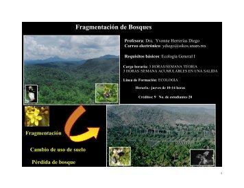 Fragmentación de Bosques - Facultad de Biología - Universidad ...