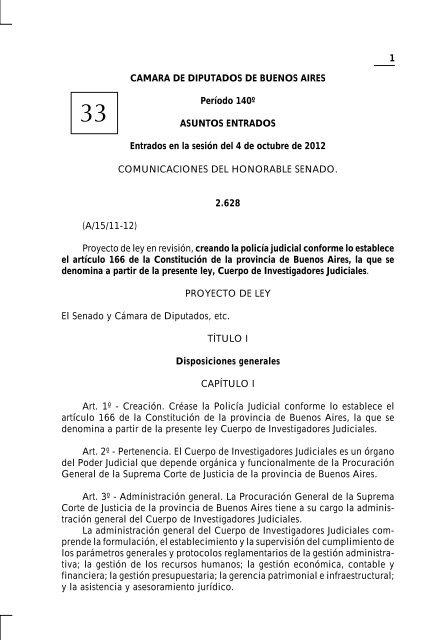 1 Camara De Diputados De Buenos Aires Período 140º