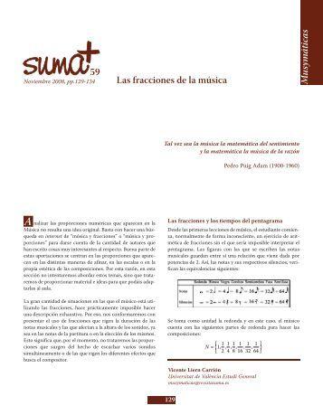 Las fracciones de la Música - SUMA Revistas de matemáticas