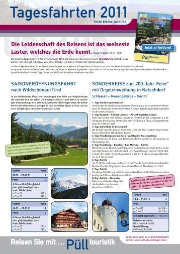 tagesfahrten 2011 - Püll Touristik Novesia-Tours-GmbH Busreise ...