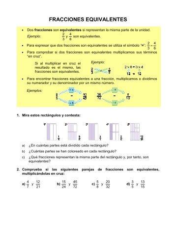 Fracciones Equivalentes - Alacima