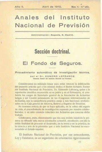 Número 4, Año II, abril, 1910 - Instituto Nacional de Gestión Sanitaria