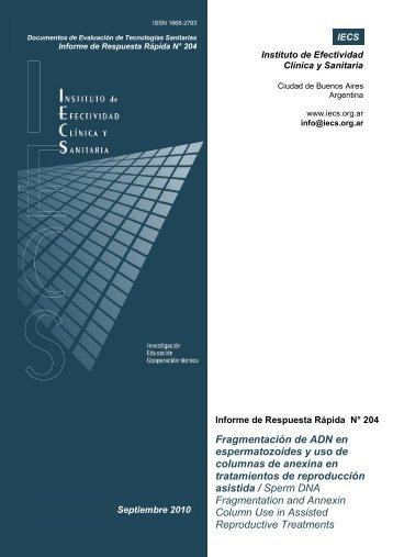 Fragmentación de ADN en espermatozoides y uso de columnas de ...