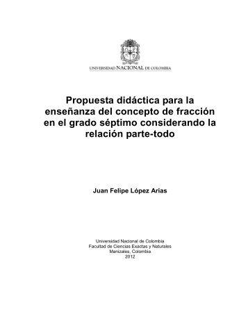Propuesta didáctica para la enseñanza del concepto de fracción en ...