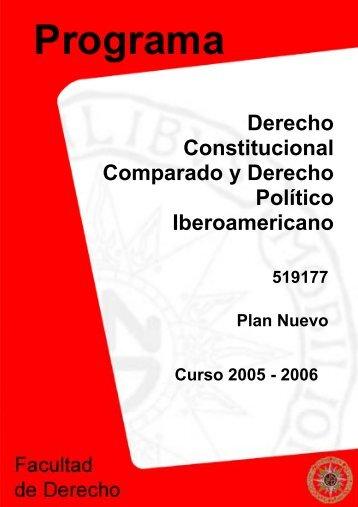 Derecho Constitucional Comparado y Derecho Político ... - Uned
