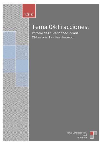Tema 04:Fracciones. - IES Fuentesaúco