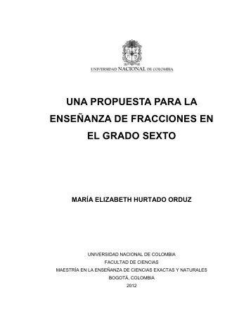 una propuesta para la enseñanza de fracciones en el grado sexto