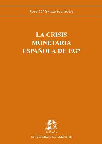 La crisis monetaria española de 1937 - Publicaciones Universidad ...