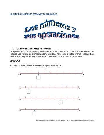 eje: sentido numérico y pensamiento algebraico - Secretaría de ...