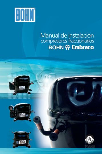 Manual de Instalación, Compresores fraccionarios - Bohn
