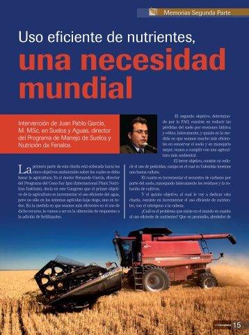 Uso eficiente de nutrientes, Juan Pablo García - Fenalce