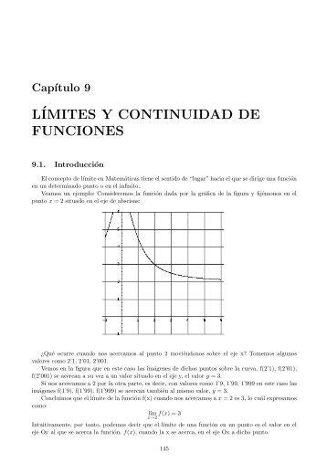 Límites y continuidad de funciones