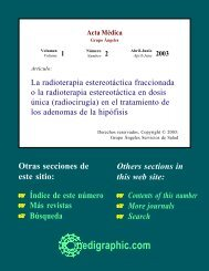La radioterapia estereotáctica fraccionada o la ... - edigraphic.com