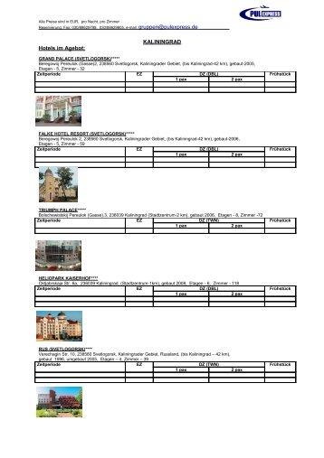 KALININGRAD Hotels im Agebot: - pulexpress