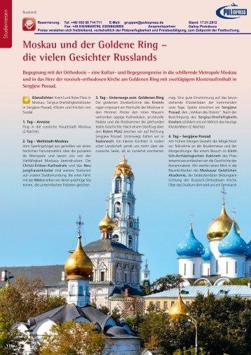 Moskau und Umgebung. - pulexpress