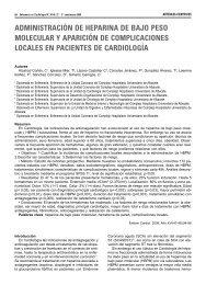 administración de heparina de bajo peso molecular y aparición de ...