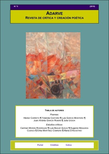 Adarve. Revista de crítica y creación poética - Universidad de Jaén