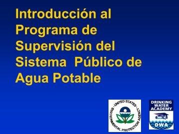 Introducción al Programa de Supervisión del Sistema Agua ... - Water