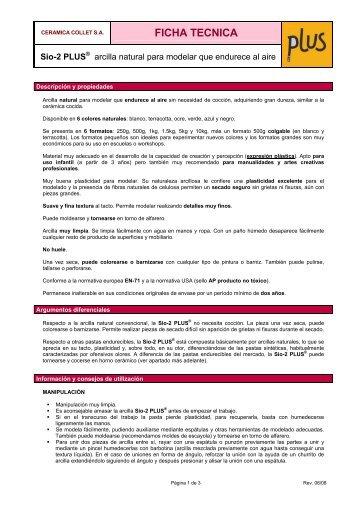 Ficha Técnica SIO-2 PLUS (es).pdf - Cerámica Collet
