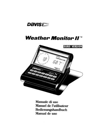 DEVIS 1121237,' - Davis Instruments Corp.