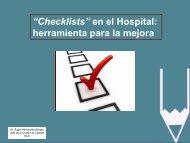 """Checklists"""" En El Hospital: Herramienta Para La Mejora"""