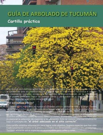 Cartilla práctica GUÍA DE ARBOLADO DE TUCUMÁN