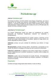 Trichoderma spp - EcoCampo