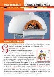 Vesuvio serie IGLOO VALORIANI Hornos profesionales