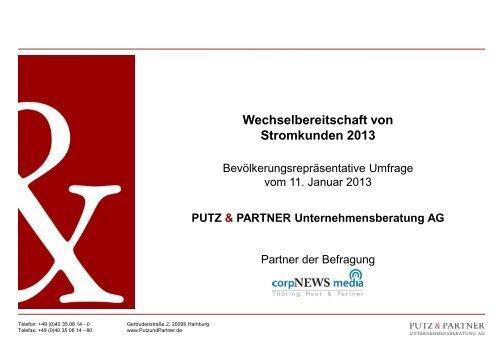 Wechselbereitschaft von Stromkunden 2013 - PUTZ & PARTNER ...