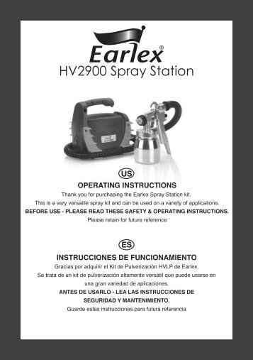 HV2900 Spray Station - Earlex