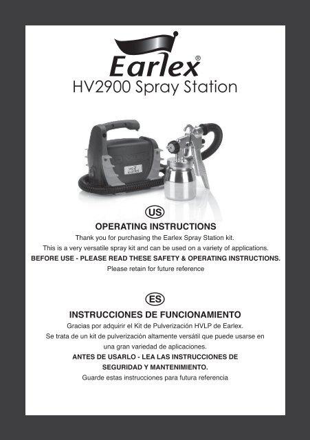 HV2900 Spray Station - Earlex