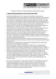 Allgemeinen Geschäftsbedingungen (AGB) (als PDF) - Puzzle ...