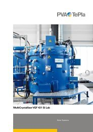 MultiCrystallizer VGF 431 Si Lab - PVA TePla AG