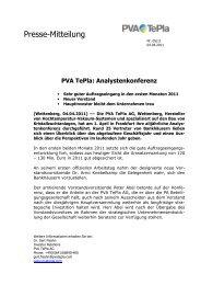 Analystenkonferenz - PVA TePla AG