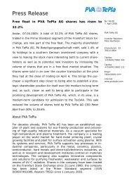 Press Release - PVA TePla AG