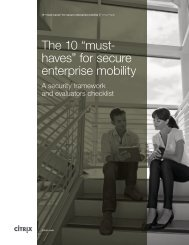 """The 10 """"musthaves"""" for secure enterprise mobility"""