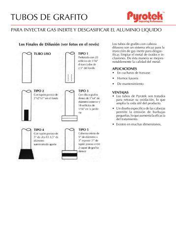 TUBOS DE GRAFITO - Pyrotek