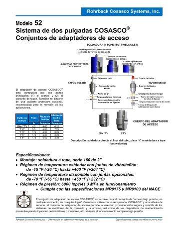 Sistema de dos pulgadas COSASCO Conjuntos de adaptadores de ...
