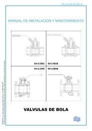 VALVULAS DE BOLA - COMEVAL