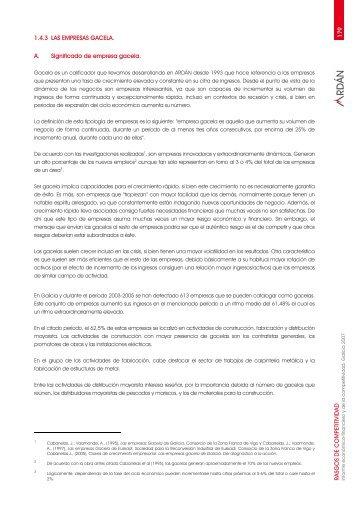 1.4.3 Las empresas gacela - Ardan