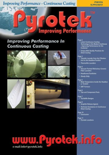 Improving Performance - Continuous Casting Improving ... - Pyrotek