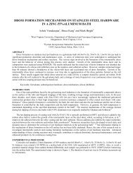 Dross Formation Mechanisms on Stainless Steel Hardware ... - Pyrotek