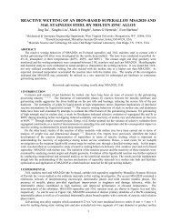 Reactive Wetting of an Iron-Based Superalloy MSA2020 ... - Pyrotek
