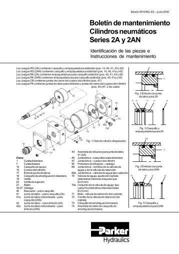 Boletín de mantenimiento Cilindros neumáticos Series 2A y ... - Parker