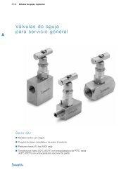 Válvulas de aguja para servicio general, Serie GU (MS ... - Swagelok
