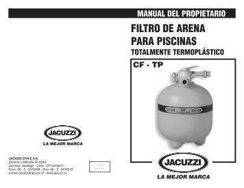 Filtro de arena astralpool atlas manual de instalacion y for Arena para filtro de piscina